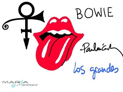 Prince, Jagger, Bowie y McCartney