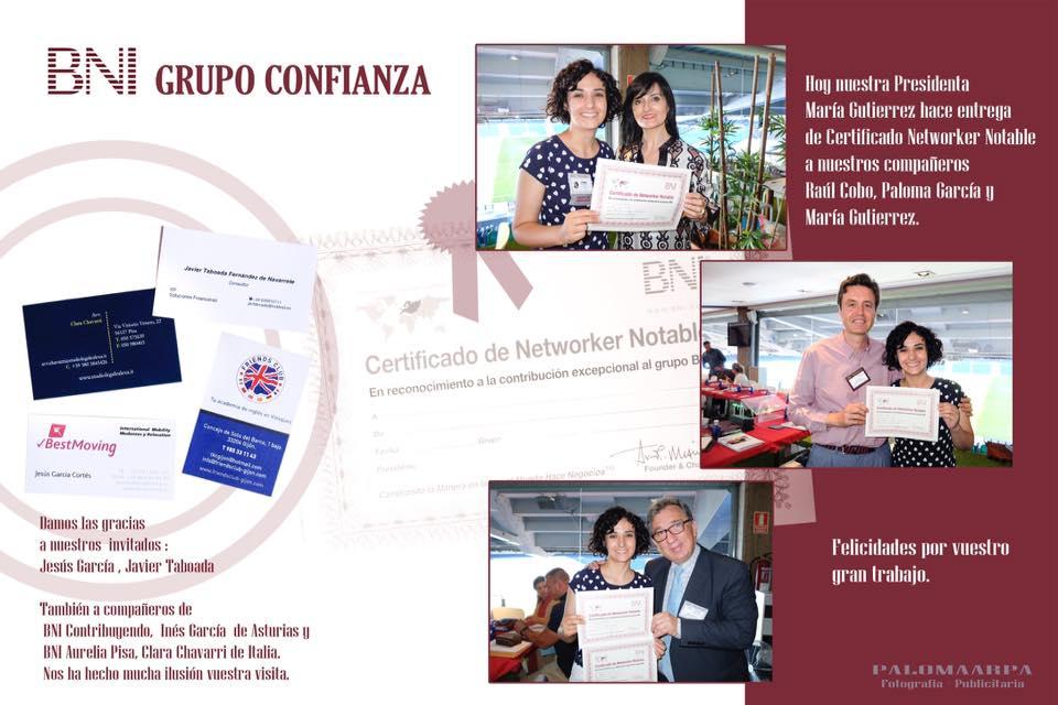 haciendo networking en BNI Confianza