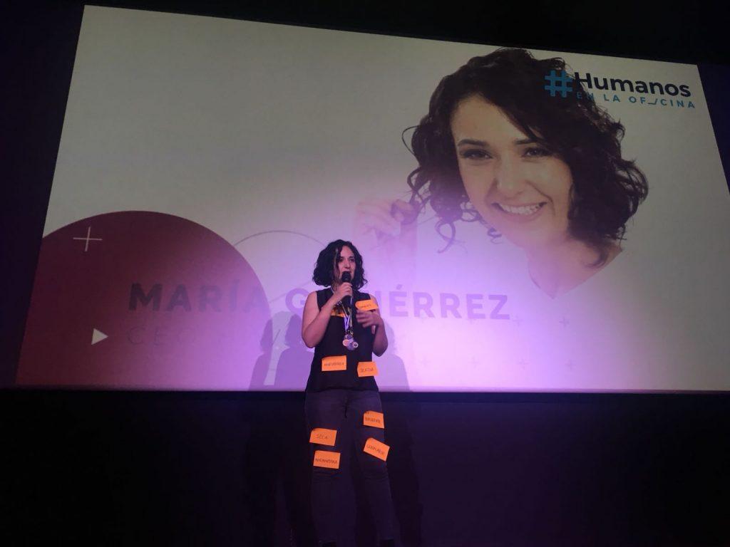 María Gutiérrez en Humanos en la Oficina